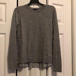 Aqua mixed media cashmere sweater